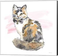 Fancy Cats II Watercolor Fine-Art Print