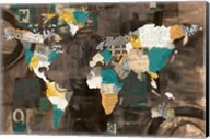Golden World on Brown Fine-Art Print