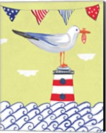 Coastal Bird I Flags Fine-Art Print