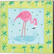 Flamingo Dance III v2 Fine-Art Print