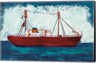 Nantucket Lightship Navy no Words Fine-Art Print
