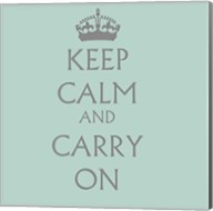 Keep Calm & Carry On - Aqua Fine-Art Print