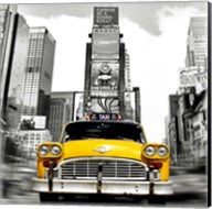Vintage Taxi in Times Square, NYC (detail) Fine-Art Print