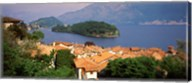 Village at the Waterfront, Sala Comacina, Lake Como, Como, Lombardy, Italy Fine-Art Print