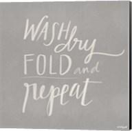 Wash, Dry, Fold, Repeat - Gray Fine-Art Print