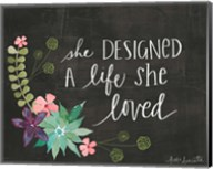 She Designed a Life She Loved Fine-Art Print