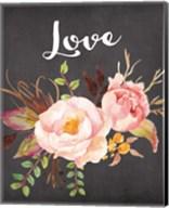 Watercolor Flowers Love Fine-Art Print