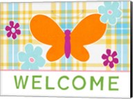 Plaid Floral Welcome Fine-Art Print