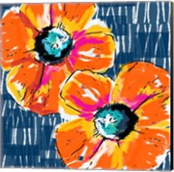 Orange Poppies on Blue Fine-Art Print