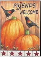 Pumpkin Blackbird Friends Welcome Fine-Art Print
