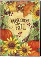 Welcome Fall Pumpkins And Leaves Fine-Art Print