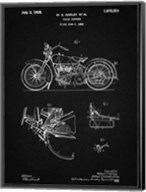 Cycle Support Patent - Vintage Black Fine-Art Print