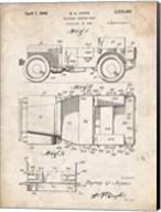 Military Vehicle Body Patent - Vintage Parchment Fine-Art Print
