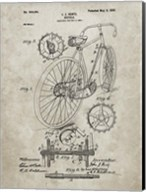 Bicycle Patent - Sandstone Fine-Art Print