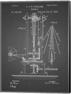Windmill Patent - Black Grid Fine-Art Print