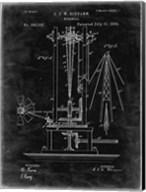Windmill Patent - Black Grunge Fine-Art Print