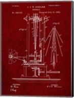 Windmill Patent - Burgundy Fine-Art Print