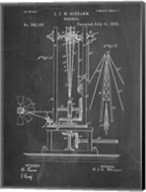 Windmill Patent - Chalkboard Fine-Art Print