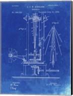 Windmill Patent - Faded Blueprint Fine-Art Print