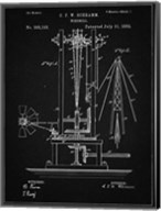 Windmill Patent - Vintage Black Fine-Art Print