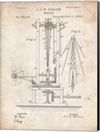 Windmill Patent - Vintage Parchment Fine-Art Print