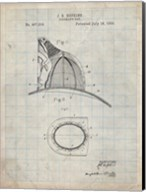 Fireman's Hat Patent - Antique Grid Parchment Fine-Art Print