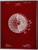 Golf Ball Patent - Burgundy Fine-Art Print
