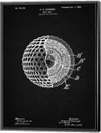 Golf Ball Patent - Vintage Black Fine-Art Print
