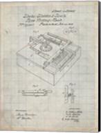 Type Writing Machine Patent - Antique Grid Parchment Fine-Art Print