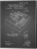 Type Writing Machine Patent - Black Grid Fine-Art Print