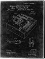 Type Writing Machine Patent - Black Grunge Fine-Art Print