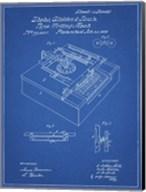 Type Writing Machine Patent - Blueprint Fine-Art Print