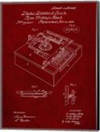 Type Writing Machine Patent - Burgundy Fine-Art Print