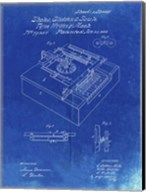 Type Writing Machine Patent - Faded Blueprint Fine-Art Print