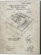 Type Writing Machine Patent - Sandstone Fine-Art Print