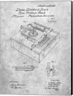 Type Writing Machine Patent - Slate Fine-Art Print