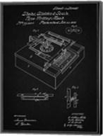 Type Writing Machine Patent - Vintage Black Fine-Art Print