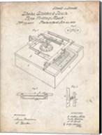 Type Writing Machine Patent - Vintage Parchment Fine-Art Print