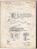 Tremolo Device for Stringed Instruments Patent - Vintage Parchment Fine-Art Print