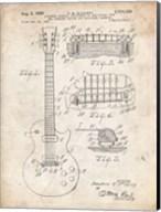Guitar & Combined Bridge & Tailpiece Therefor Patent - Vintage Parchment Fine-Art Print
