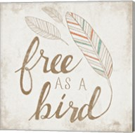 Free as a Bird Beige Fine-Art Print