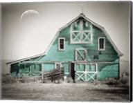 Teal Green Luna Barn Fine-Art Print