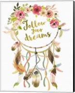 Dreamcatcher Follow Your Dreams Fine-Art Print