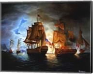 Bonhomme Richard And Serapis Battle Fine-Art Print
