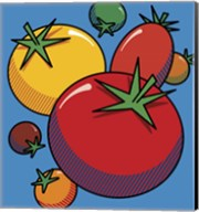 Various Tomatoes On Blue Fine-Art Print