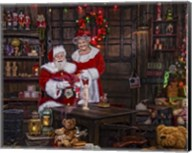 Painting With Mrs Claus Fine-Art Print