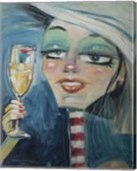 Trixie With Champagne Fine-Art Print