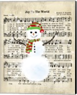 Snowman Conducts Joy To The World Fine-Art Print