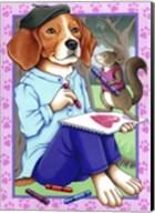 Beagle Artist Fine-Art Print
