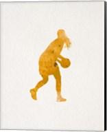 Basketball Girl Watercolor Silhouette Part III Fine-Art Print